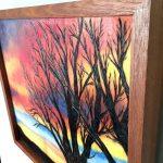 wood burned art