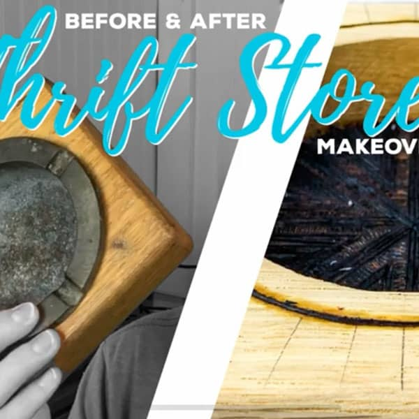 DIY Thrift Store Makeover | Wood Burned Trash to Treasure