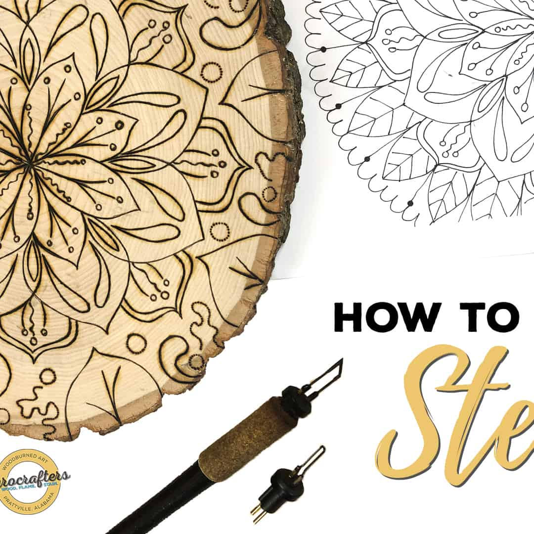 How to Wood Burn Using Stencils