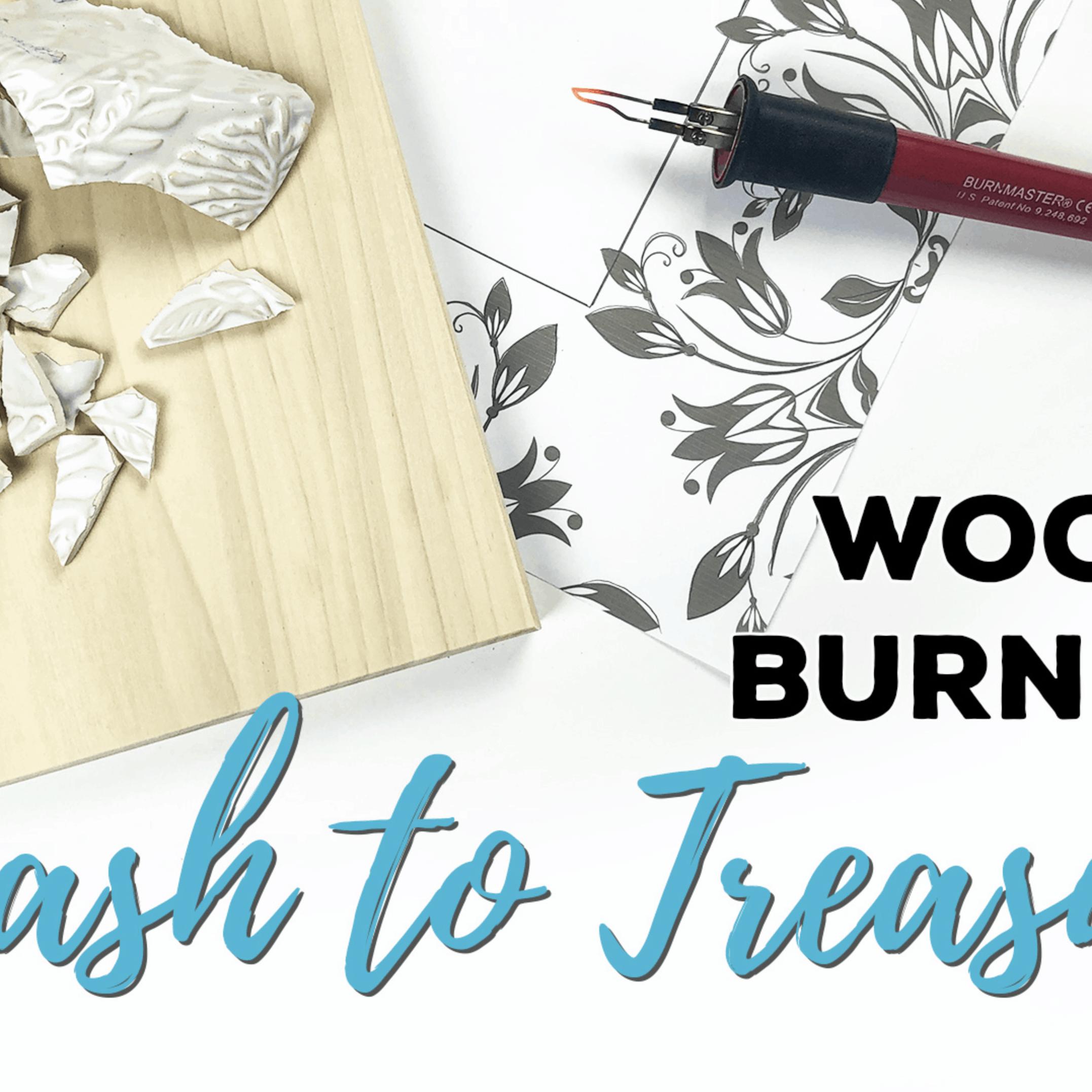Wood Burning Art Trash to Treasure Piece.