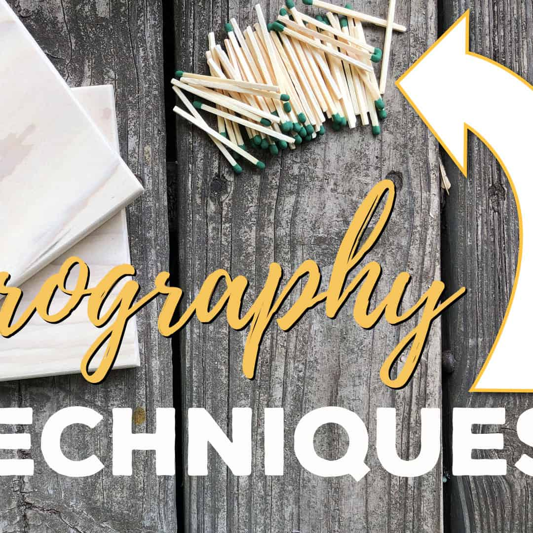 Pyrography Techniques | Wood Burning with Matches