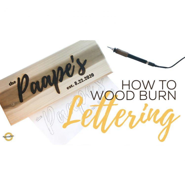 Wood-burn-lettering